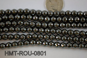 Hematite Round faceted 8mm HMT-ROU-0801
