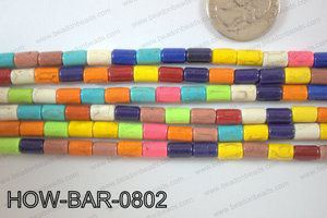 Howlite Tube 8x5mm HOW-BAR-0802