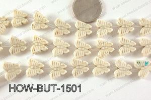 Howlite Butterfly White 13x15mm HOW-BUT-1501