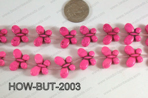 Howlite Butterfly Hot Pink 15x20mm HOW-BUT-2003