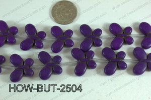 Howlite Butterfly Purple 20x25mm HOW-BUT-2504