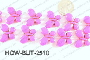 Howlite Butterfly Hot Pink 20x25mm HOW-BUT-2510