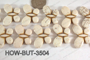 Howlite Butterfly White 35x25mm HOW-BUT-3504