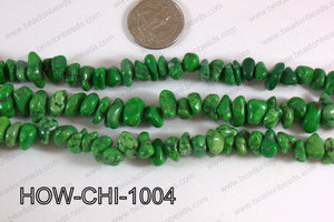 Howlite Chips Green 5x10mm HOW-CHI-1004