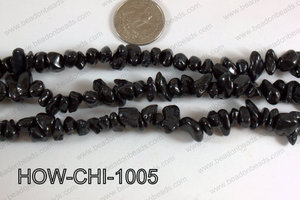 Howlite Chips Black 5x10mm HOW-CHI-1005