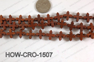Howlite cross 15mm brown HOW-CRO-1507
