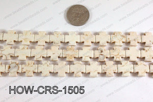 Howlite Cross White 15X15mm HOW-CRS-1505