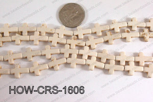 Howlite Cross Cream 12x16mm HOW-CRS-1606
