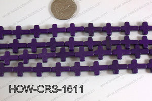 Howlite Cross Purple 12x16mm HOW-CRS-1611