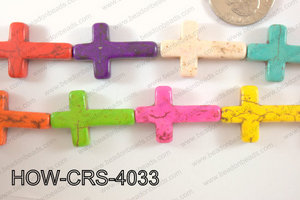 Howlite Cross 18x25mm HOW-CRS-4033