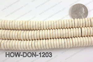 howlite donut shaped cream 12mm HOW-DON-1203
