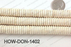 howlite donut shaped cream 14mm HOW-DON-1402