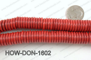 howlite donut shaped red 16mm HOW-DON-1602