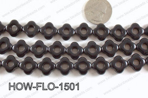 howlite flower black 15mm HOW-FLO-1501