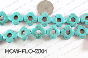 howlite flower turquoise 20mm HOW-FLO-2001