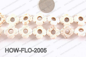 howlite flower cream 20mm HOW-FLO-2005