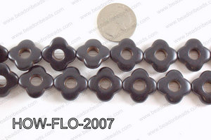 howlite flower black 20mm HOW-FLO-2007