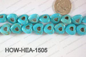 Howlite Heart 16mm HOW-HEA-1505
