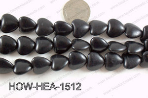 Howlite Heart Black 16mm HOW-HEA-1512