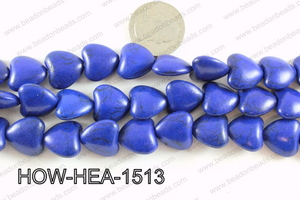 Howlite Heart Dard Blue 16mm HOW-HEA-1513