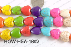 Howlite Heart Multicolor 18x18mm HOW-HEA-1802