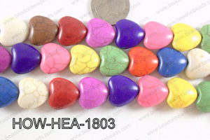 Howlite Heart Multicolor 18x18mm HOW-HEA-1803