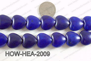 Howlite Heart Dark Blue 20x20mm HOW-HEA-2009