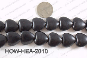 Howlite Heart Black 20x20mm HOW-HEA-2010