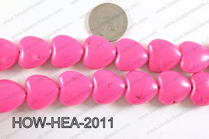 Howlite Heart Pink 20x20mm HOW-HEA-2011