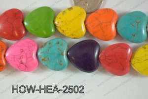 Howlite Heart 25x25mm HOW-HEA-2502