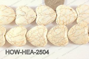 Howlite Heart 25mm White HOW-HEA-2504