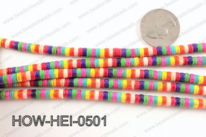 howlite heishi multicolor 5x3mm HOW-HEI-0501