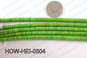 howlite heishi green 5x3mm HOW-HEI-0504