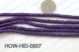 howlite heishi purple 5x3mm HOW-HEI-0507