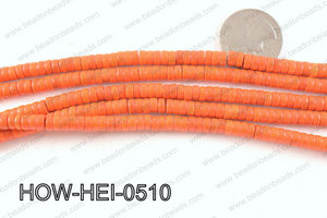 howlite heishi orange 5x3mm HOW-HEI-0510