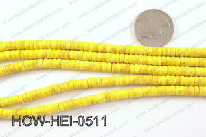 howlite heishi yellow 5x3mm HOW-HEI-0511
