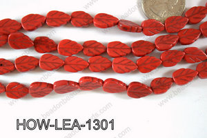Howlite Leaf 13x9mm HOW-LEA-1301