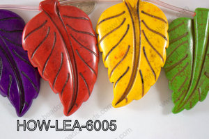 Howlite Leaf 60x40mm HOW-LEA-6005