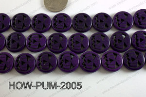 Howlite Pumpkin Round, Purple 20mm HOW-PUM-2005