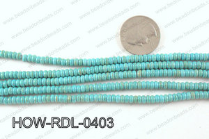 howlite rondelle turquoise 4x2mm HOW-RDL-0403