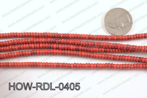 howlite rondelle red 4x2mm HOW-RDL-0405