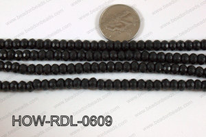 Howlite Rondelle Faceted Black 06mm HOW-RDL-0609