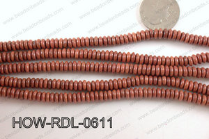 howlite rondelle brown 6x2mm HOW-RDL-0611
