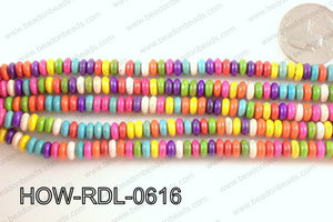 howlite rondelle multicolor 6x2mm HOW-RDL-0616