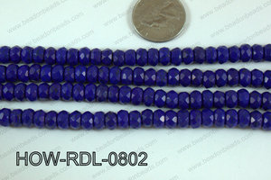 Howlite Rondelle Faceted Dark Blue 08mm HOW-RDL-0802