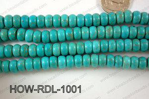 Howlite Rondel 10mm HOW-RDL-1001