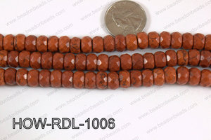 Howlite Rondelle Faceted Brown 10mm HOW-RDL-1006