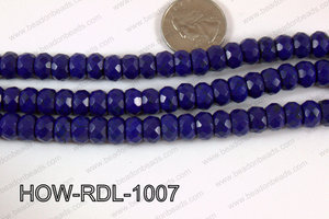 Howlite Rondelle Faceted Dark Blue 10mm HOW-RDL-1007