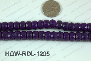 Howlite Rondelle Faceted Purple 12mm HOW-RDL-1205