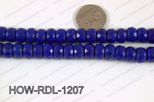 Howlite Rondelle Faceted Dark Blue 12mm HOW-RDL-1207